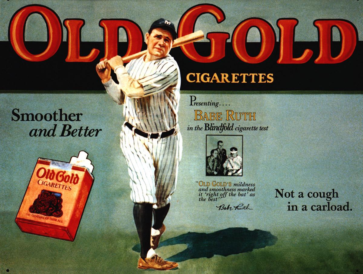 Associar o cigarro aos esportes também era muito comum.