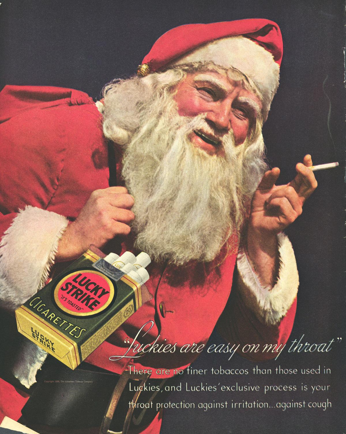 Nem o Papai Noel escapou da indústria do tabaco.
